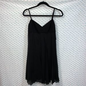 NWT BCBGMAXAZRIA Petite Black Slip Mini Dress